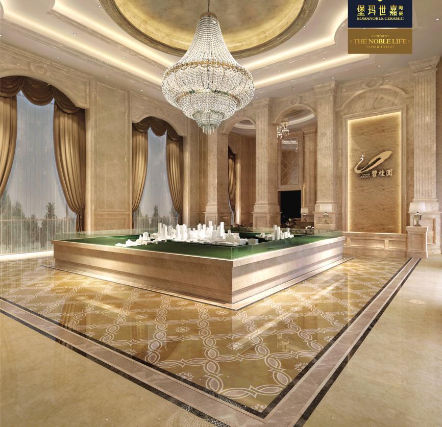 欧式风格大厅走廊耐磨耐滑大理石瓷砖