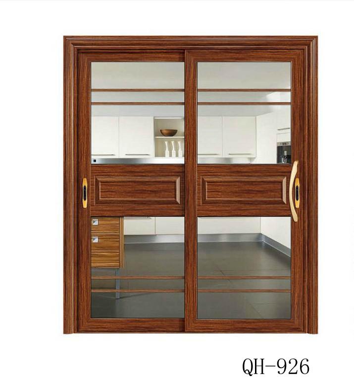 厨房卫生间83中框小重型豪华推拉门前单包边推门铝合金门
