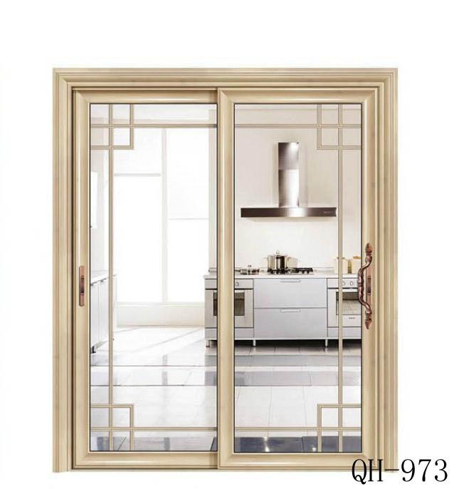 厨房卫生间大欧弧边豪华推拉门前单包边推门铝合金门