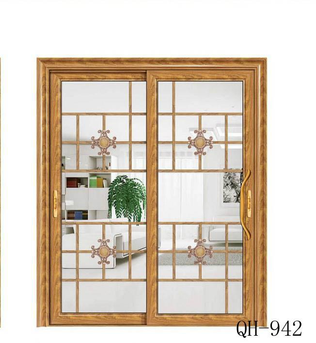 厨房卫生间金钻豪华推拉门前单包边推门铝合金门