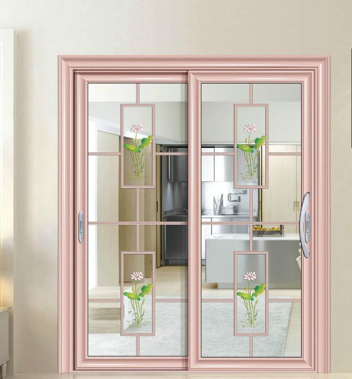厨房卫生间中欧弧边豪华推拉门前单包边推门铝合金门